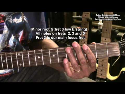 How To Solo On Electric Guitar In G Minor With Or Without Learning Scales Tutorial Lesson