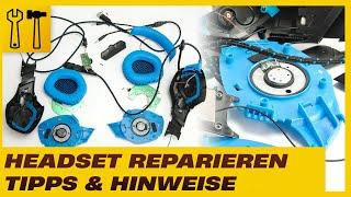 Headset zerlegt! Wie ist ein Headset aufgebaut? Tipps für Reparaturen