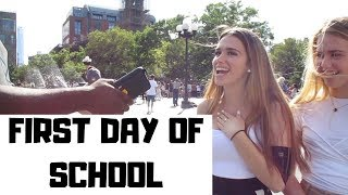 BACK TO SCHOOL 2019: HOW TO APPROACH A GIRL IN COLLEGE   PUBLIC INTERVIEW   NYC