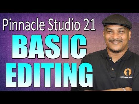 Pinnacle Studio 21 Ultimate | Basic Editing Beginners Tutorial