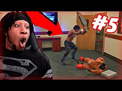 WWE 2K19 MyCAREER - SAVAGE BACKSTAGE BRAWL ALMOST INJURES ME! 8 MAN #1 CONTENDER BATTLE ROYALE!