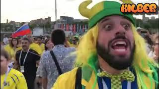 Подборка Приколов #42 - Бразильский фанат в России