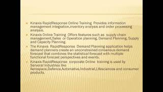 Proexcellency provides Kinaxis Rapid Response Online training
