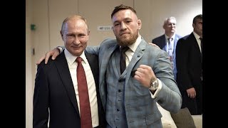 Conor McGregor meets Vladimir Putin at 2018 World Cup Final