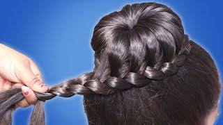 Updo Braid Bun Hairstyle For Girls || Hair Style Girl || Bun Hairstyle Tutorials
