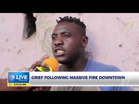 Victims of a fire in Downtown, Kingston, left grief-stricken