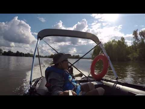 1st Ride in new Seabright 500 inflatable boat - смотреть