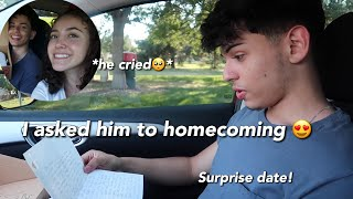 I ASKED MY BOYFRIEND TO HOMECOMING ❤️ *emotional*