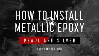 Installing Metallic Epoxy Floor