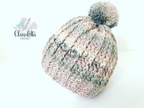 Einfache Rippel Mütze Häkeln Super Für Anfänger Claudetta Crochet