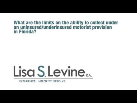 What are the limits collecting under an uninsured/underinsured motorist provision in Florida?
