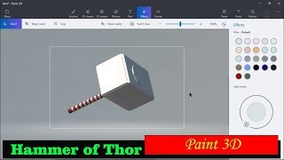 Hammer of Thor use Paint 3D