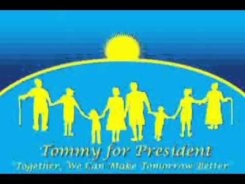 Tommy Declares Presidential Candidacy