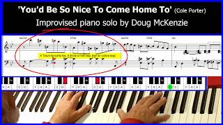 You'd Be So Nice To Come Home To - jazz piano tutorial