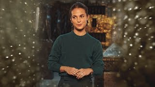 Alicia Vikander thanks us for our support in this video!