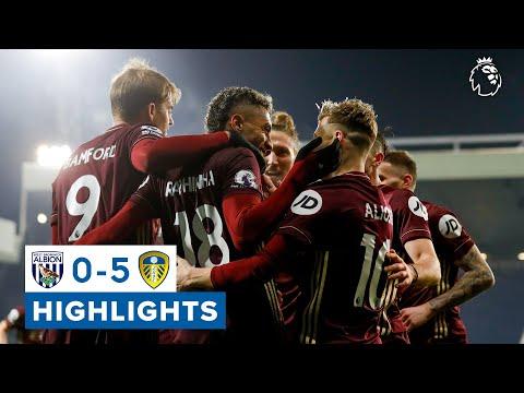 West Brom 0-5 Leeds United | 25-yard own goal Raphinha screamer | Premier League highlights