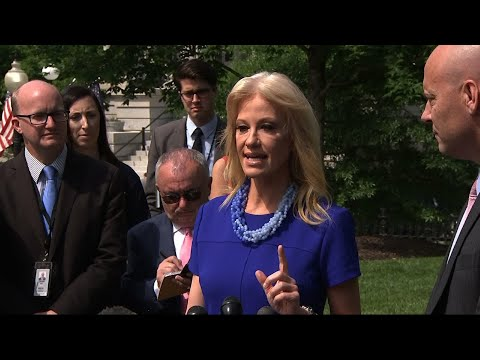 """White House counselor Kellyanne Conway is taking verbal jabs at House Speaker Nancy Pelosi following a White House meeting that dissolved into rancor, Wednesday.  Conway said Pelosi treated her """"as she might treat her maid"""" during the exchange. (May 23)"""