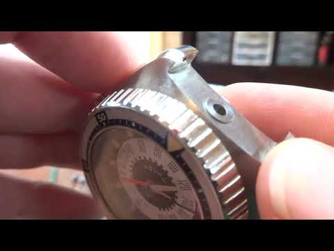 Vintage Aquadive Time Depth 50m diver watch, depth gauge test
