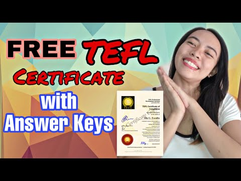 FREE TEFL CERTIFICATE WITH ANSWER KEYS | Be a TEFL ...