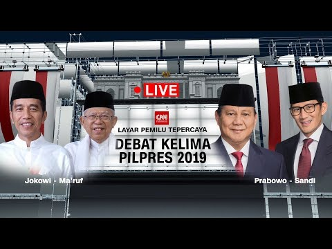Download FULL! Debat Capres - Cawapres Kelima 2019 ; Jokowi -Ma'ruf Amin Vs Prabowo - Sandiaga Uno HD Mp4 3GP Video and MP3