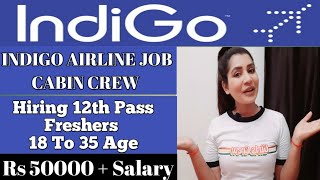 INDIGO AIRLINE Cabin Crew Job Vacancy 2020  For Freshers & Experience  Airline job Itssimplyfly