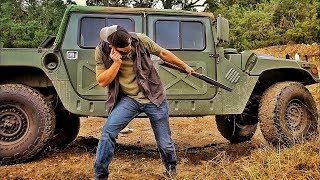 Пуленепробиваемость кевларовых шин HMMWV (Хамви) | Разрушительное ранчо | Перевод Zёбры
