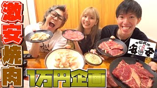 激安焼肉店の安安で1万円食べ切るまで帰れません!!!【あいにょん】