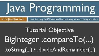 Learn Java Programming - BigInteger .compareTo(...) Tutorial