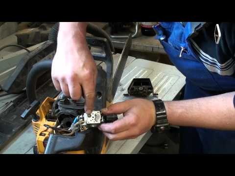 Kettensäge geht aus wenn warm - was nun? Reparatur -  Anleitung M1Molter