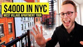 NYC $4000 per month West Village | Manhattan Apartment Tour 2020