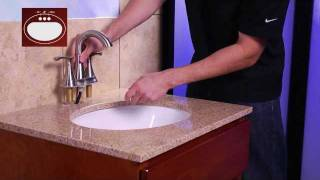 "Installing a Pfister 4"" Centerset Bathroom Faucet with Pull-Out Sprayer"