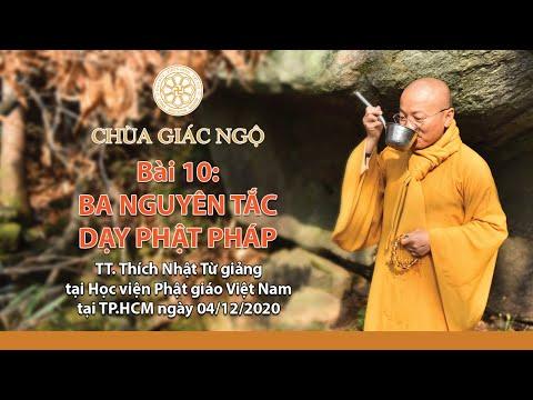 Ba nguyên tắc dạy Phật pháp l Sư phạm hoằng pháp