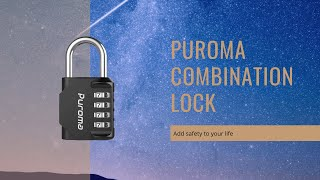 Puroma 4 Digit Combination Lock Padlock - How to use