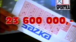 Sazka - Jackpot Sportky - stará reklama z roku 1995 @ Staré Reklamy