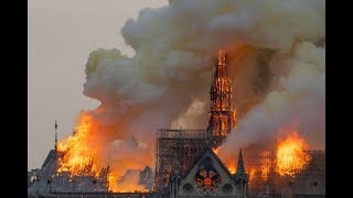 Dawn breaks over Notre-Dame the morning after a devastating fire
