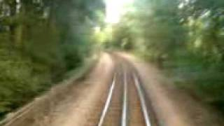 preview picture of video 'Chesham to Chalfont and Latimer on the metropolitan line(drivers eye view)'