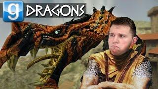 DRAGONS IN GMOD!   Garry's Mod Sandbox Fun w/ Skyrim Mods
