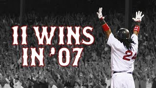 11 Wins in '07 | 2007 Boston Red Sox