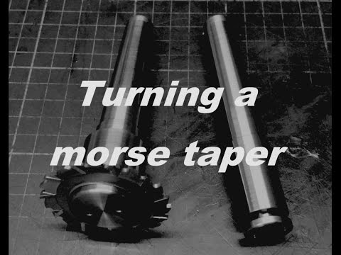 Saw arbors Part 3 / Turning a morse taper - Sägedorne Teil 3 / Morsekegel drehen