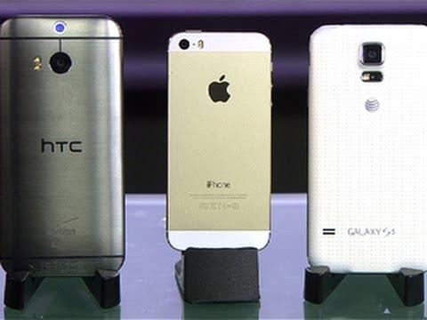 ¿Cuál es mejor HTC ONE M8, Iphone 5 o Galaxy S5?