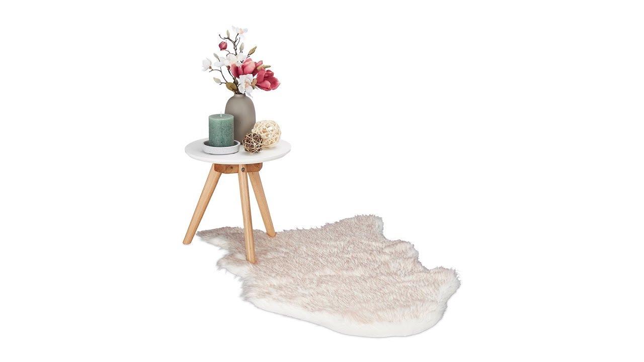 Video von: Kunstfell Teppich Weiß/Rosè