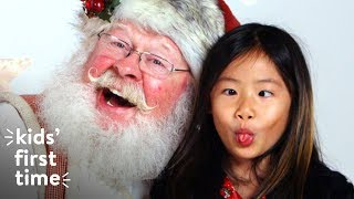 Kids Meet Santa for the First Time | Kids First Time | HiHo Kids