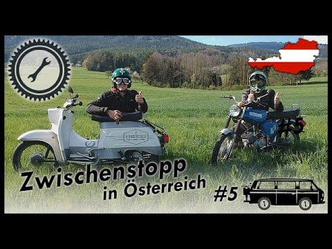 2RadGeber Simson Reise #5 - Kurzer Zwischenstopp in Österreich