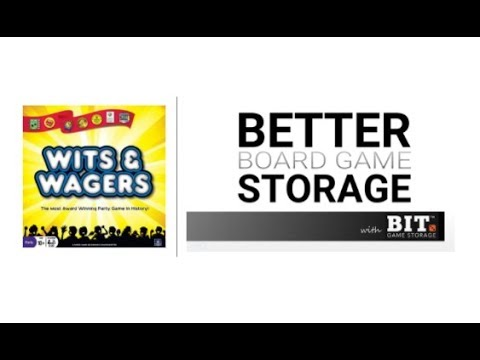 Better Board Game Storage - Wits & Wagers