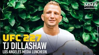 UFC 227: T.J. Dillashaw Media Lunch Scrum - MMA Fighting
