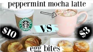 Starbucks Copycat Sous Vide Egg Bites & Peppermint Mocha Latte - MissLizHeart