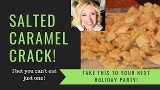ULTIMATE CARAMEL COVERED CHEX MIX    WHAT TO BRING TO A HOLIDAY PARTY
