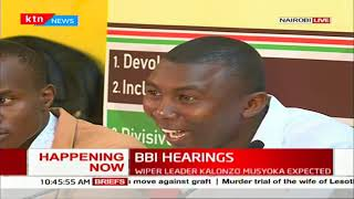 Kenyan youths present their views to BBI task-force, want internship made mandatory