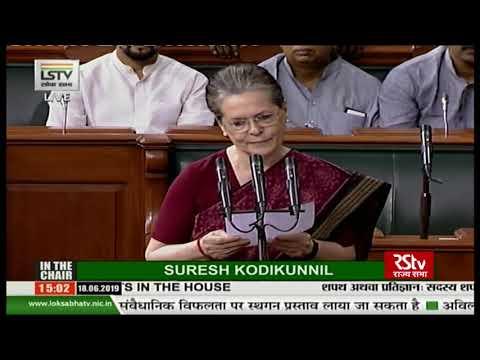 Sonia Gandhi takes oath as Lok Sabha MP