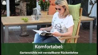 Teakholz Hochlehner Klappsessel Michele